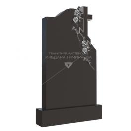 Надгробие с розами вокруг креста
