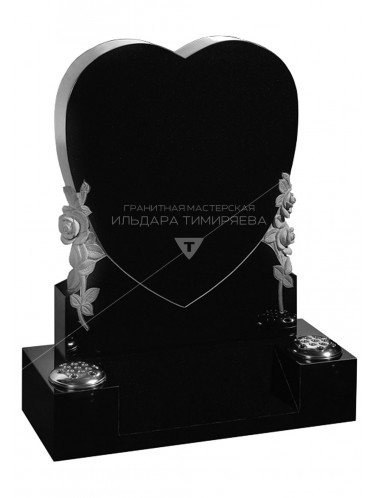 Памятник Сердце с подставкой