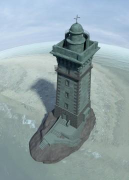 Уменьшенная копия маяка с основанием. Частный заказ