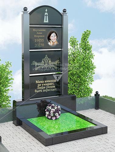 Стеклянный памятник Модель Combi-2