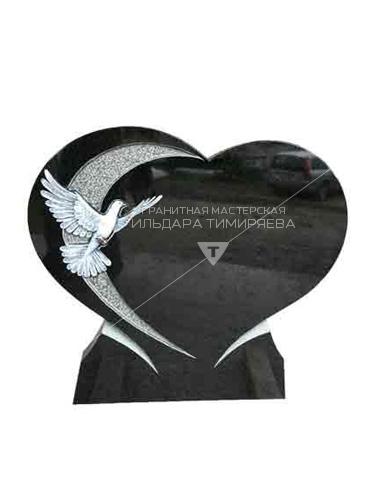 Памятник в форме сердца с голубем Модель EU-29