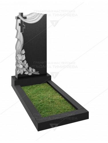 Памятник с плащаницей, крестом и розами Модель vpk20-0162