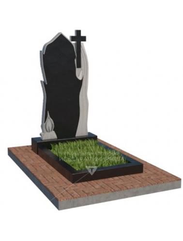 Памятник с крестом и свечой