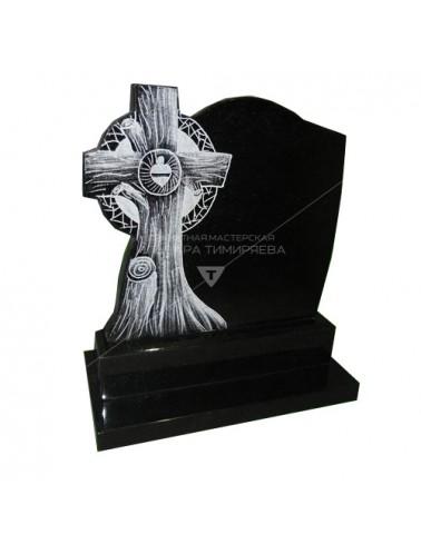 Памятник с крестом из дерева Модель vpk4231116