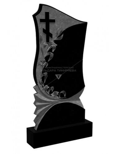 Памятник с лилиями и крестом