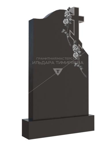 Памятник с розами вокруг креста Модель vpk9012