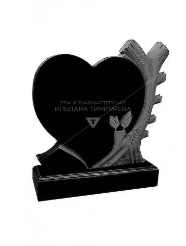 Памятник Сердце со свечой. Оригинальный памятник Сердце vpk0286