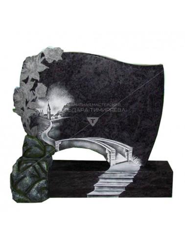 Памятник с розами и лесенкой, ведущей к мосту Модель vpk0510