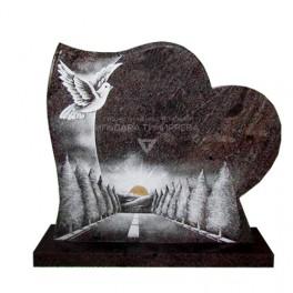 Памятник Сердце с рисунком