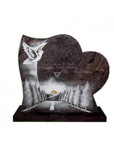 Памятник в форме Сердца с рисунком Модель vpk0517