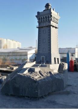 Уменьшенная копия маяка Тенневек с основанием. Частный заказ